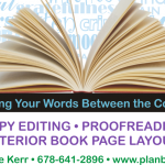 Copywriting, proofreading, interior page design